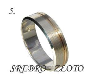 Obrączka srebro-złoto